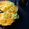 Gin and Tonic Tart with Candied Lemon